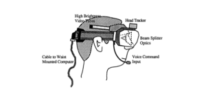 Caudell and Mizell's Augmented reality headset design (Caudell and Mizell, 1992)