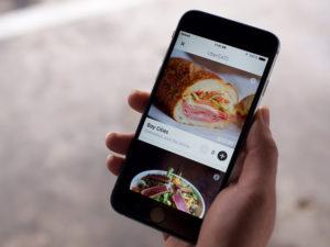 UberEats phone app