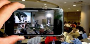Photo depicting an augmented image depicted from the camera lens of a smartphone.