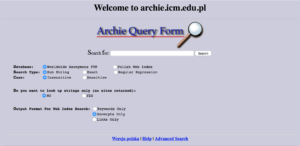 search engines --archie