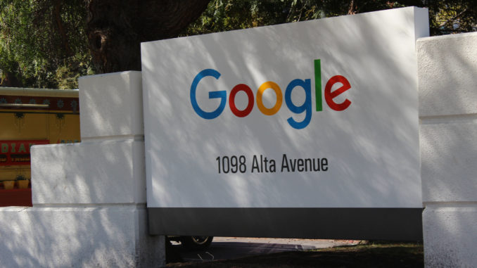 Image showing the Google Sign outside their headquarters in Mountain View, California