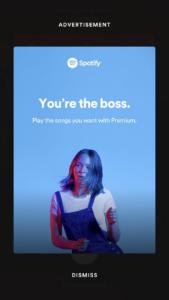 Spotify-ad