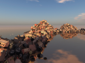 An art installation within Second Life